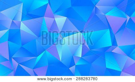 Trendy Creative Cerulean Iridescent Clear Blue Bg