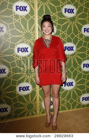 LOS ANGELES - JAN 8:  Jenna Ushkowitz at the FOX All Star Winter TCA Party at Castle Green on January 8, 2012 in Pasadena, California.