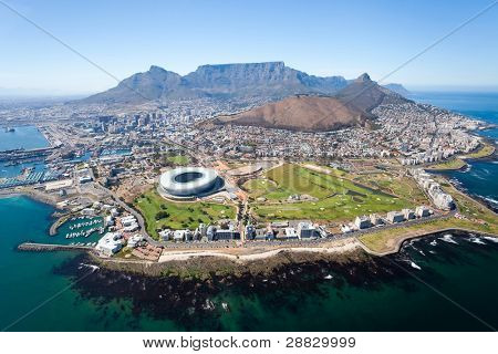 insgesamt aerial View of Cape Town, Südafrika