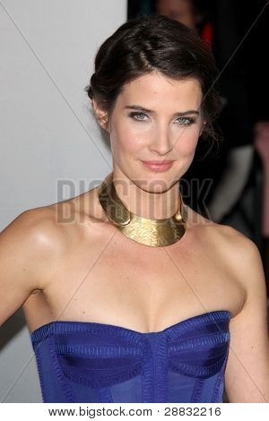 LOS ANGELES - JAN 11: Cobie Smulders arrives at  People's Choice Awards 2012 at Nokia Theater at LA Live on January 11, 2012 in Los Angeles, CA