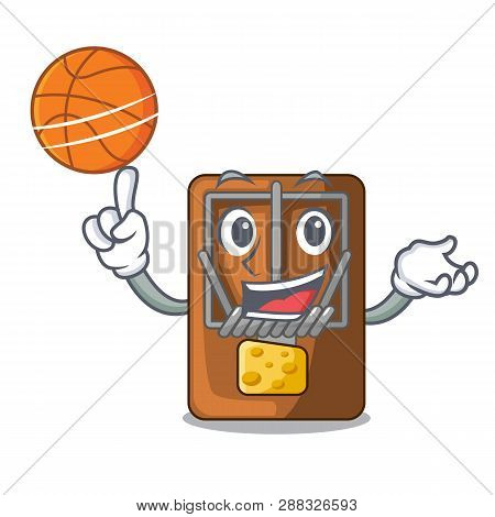 With Basketball Mousetrap In The A Character Shape
