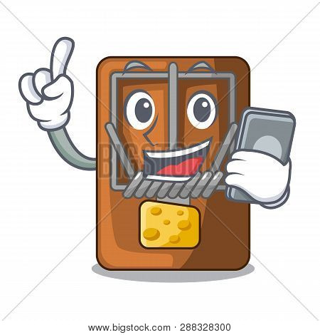 With Phone Mousetrap In The A Character Shape