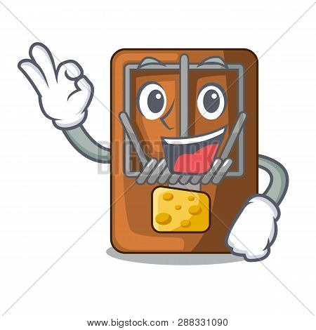 Okay Mousetrap In The Shape Mascot Wood