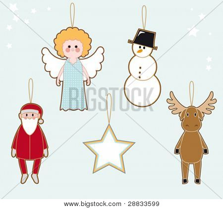 christmas character tags
