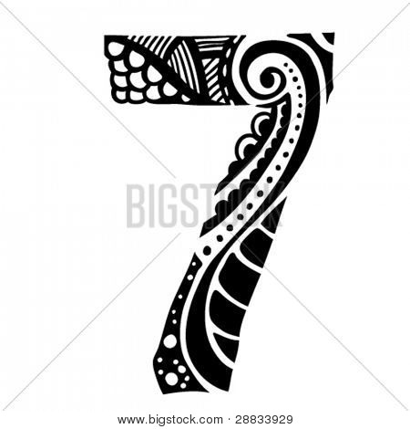 number ornament - 7 -