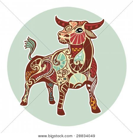 Zodiac signs - Taurus (colored)