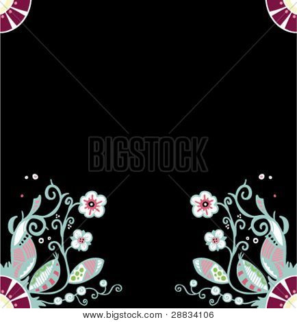 flower ornament frame