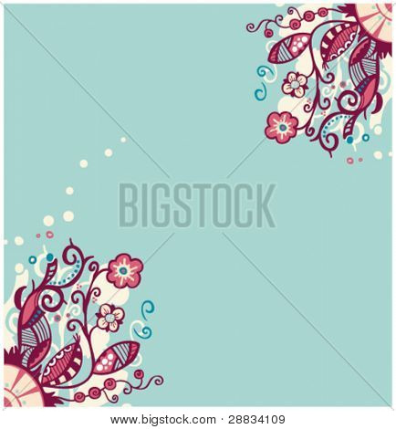 flower ornament background