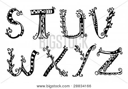 doodle alphabet s-z