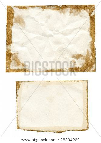grunge paper with gold frame