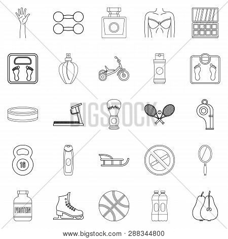 Lustiness Icons Set. Outline Set Of 25 Lustiness Icons For Web Isolated On White Background