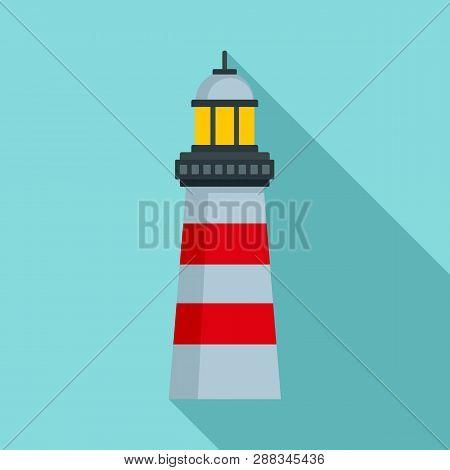 Coast Lighthouse Icon. Flat Illustration Of Coast Lighthouse Icon For Web Design