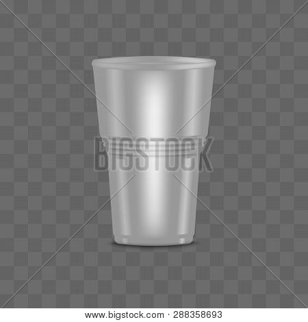 Big Blank Clear Transparent Disposable Realistic 3d Plastic Cup With Grooved.