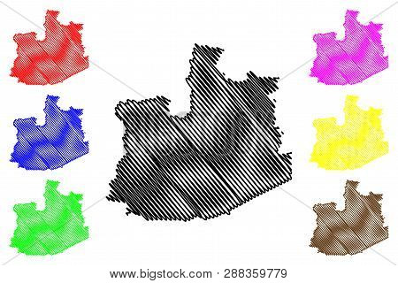 Phra Nakhon Si Ayutthaya Province (kingdom Of Thailand, Siam, Provinces Of Thailand) Map Vector Illu
