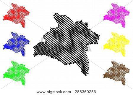 Prachinburi Province (kingdom Of Thailand, Siam, Provinces Of Thailand) Map Vector Illustration, Scr