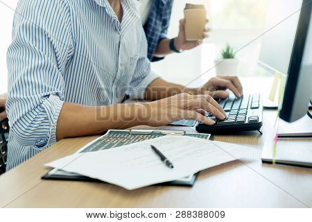It Office Programmers Software Development Coding Technologies On Computer Working In A Company Offi