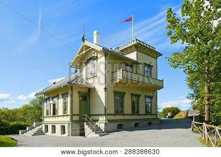 Bergen, Norway - July 19, 2018: Edvard Grieg`s Troldhaugen House In Bergen