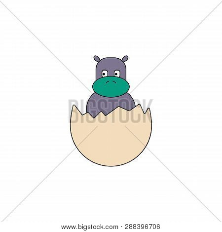 Cartoon Hatchling Egg Toy Colored Icon. Signs And Symbols Can Be Used For Web, Logo, Mobile App, Ui,