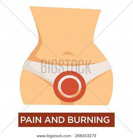 Cystitis And And Burning In Female Genitals Disease Symptom