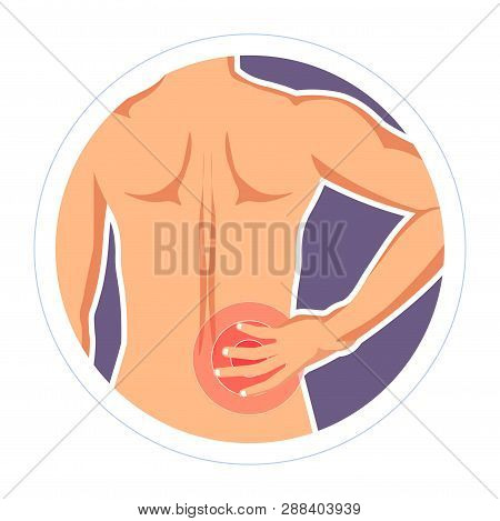 Injury Backache Backbone Inflammation Rheumatism Vector Illustration