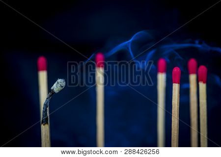 Concept Of Being Bullied Till Burn Out, Done With Matches