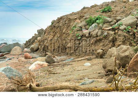 Clay Cliffs Of The Coast, Wild Sea Coast