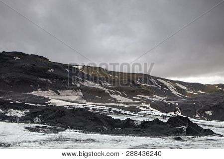 The Mountains That Have Been Carved Out By The Glacier In Iceland