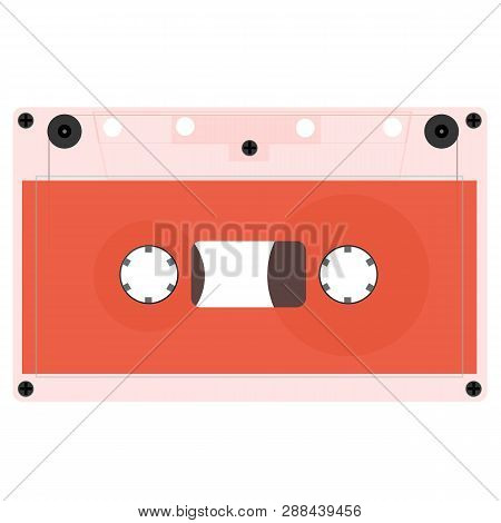 Retro Audio Cassette, Isolated Media Illustration. A Set Of Outdated Audio Cassettes. Vector Illustr