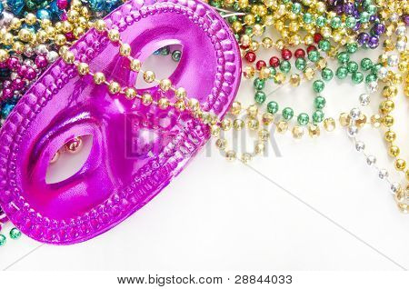 Masquerade mess on beads after party poster