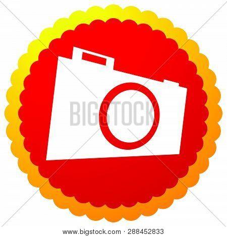 Small Photo Camera Icon. Hobby Photography Concept Icon