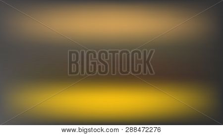 Vector Blur Background With Two Horizontal Golden Spots