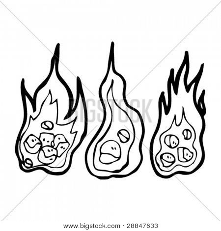 burning coals cartoon collection