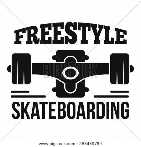 Freestyle Skateboarding Logo. Simple Illustration Of Freestyle Skateboarding Logo For Web Design Iso