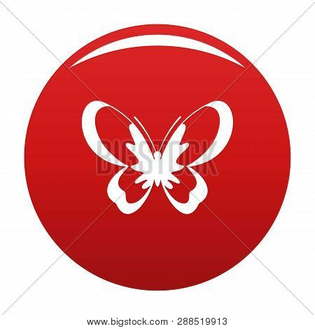 Unknown Butterfly Icon. Simple Illustration Of Unknown Butterfly Icon For Any Design Red