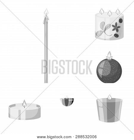 Vector Illustration Of Paraffin And Fire  Sign. Collection Of Paraffin And Decoration    Vector Icon