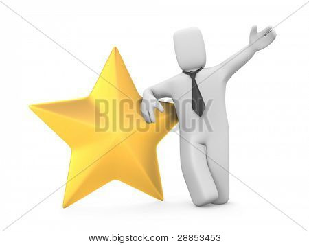 Business star. Image contain clipping path