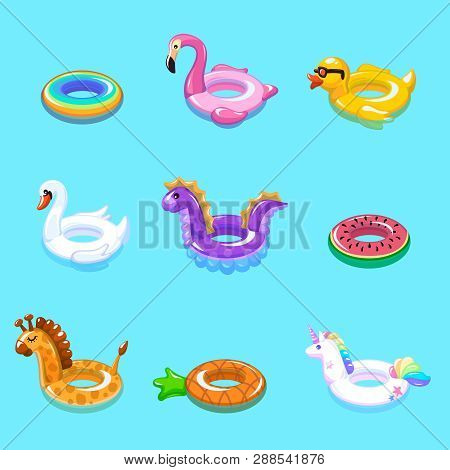 Swimming Rings. Inflatable Float Buoy Kid Toys Float Ring Lifebuoy Rescue Belt Duck Beach Pool Swim