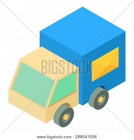 Post Truck Icon. Isometric Illustration Of Post Truck Icon For Web