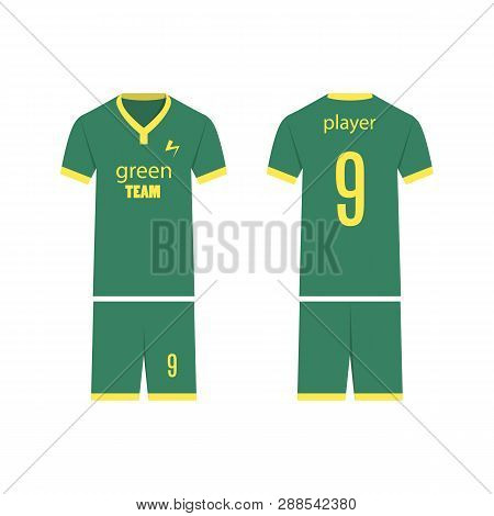 45f29e09a T-shirt Sport Design Template For Soccer Jersey. Mock Up Football Kit In  Front
