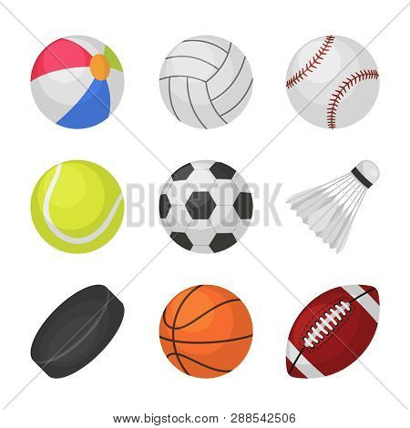 Ball Games. Sports Kids Ball Volleyball Baseball Tennis Football Soccer Bambinton Hockey Basketball