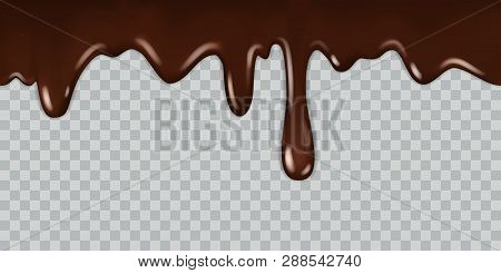 Dripping Chocolate. Delicious Gourmet Chocolate Liquid Frame Syrup Cooking Melted Chocolates Bitter