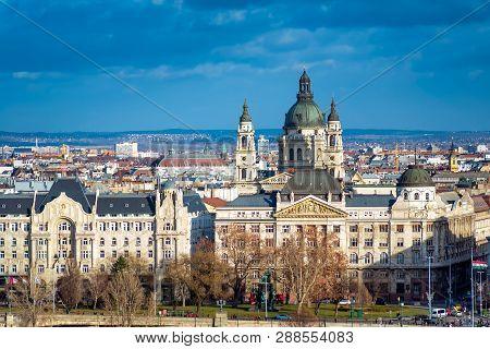 Budapest Cityscape As Seen From Gellert Hill. Hungary