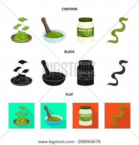 Isolated object of protein and sea logo. Set of protein and natural stock vector illustration. poster