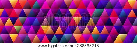 Purple Color Saturated Trendy Triangle BG Design poster