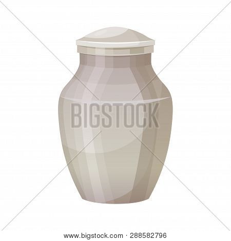 Funerary Urn For Cremation Ceremony, Object Icon