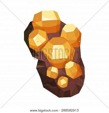 Minerals Of Bright Natural Structure, Geological Icon