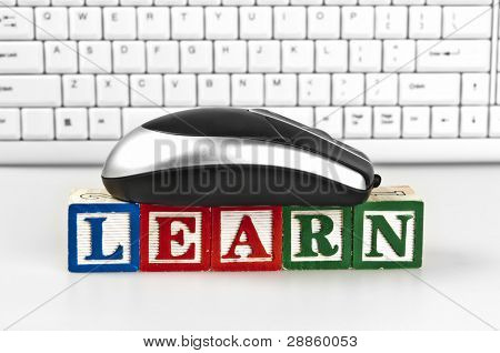 Learn word with mouse and keyboard