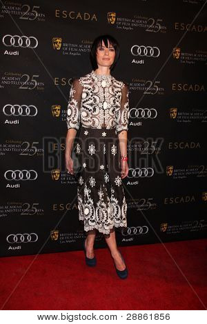 LOS ANGELES - JAN 14:  Lena Headey arrives at  the BAFTA Award Season Tea Party 2012 at Four Seaons Hotel on January 14, 2012 in Beverly Hills, CA