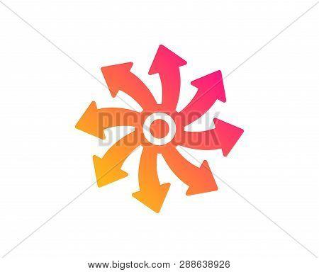 Versatile icon. Multifunction sign. Classic flat style. Gradient versatile icon. Vector poster