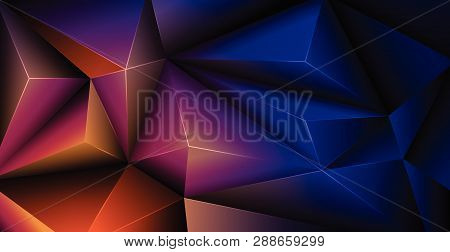 Vector 3d Geometric, Polygon, Line, Triangle Pattern Shape For Wallpaper Or Background. Illustration
